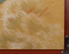 Japanese Two Panel Screen Autumn Colored Canyon in the Mist - 1511617