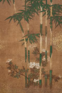 Japanese Two Panel Screen Bamboo Grove on Mulberry Paper with Gold Dust - 1771269