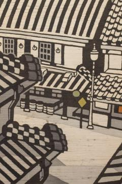 Japanese Two Panel Screen City View of Kyoto - 414730