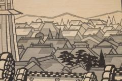Japanese Two Panel Screen City View of Kyoto - 414731