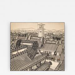 Japanese Two Panel Screen City View of Kyoto - 414942