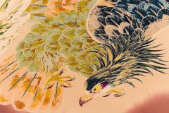 Japanese Two Panel Screen Falcons in Flight - 1950337