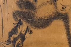 Japanese Two Panel Screen Gibbons of Folklore - 1631415