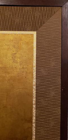 Japanese Two Panel Screen Gold Leaf on Paper - 1571835
