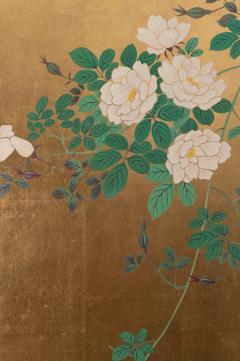Japanese Two Panel Screen Ikebana on Gold - 1824976