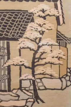 Japanese Two Panel Screen Kyoto Town Street Scene - 1552140