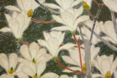 Japanese Two Panel Screen Magnolia Tree in Bloom - 1320007