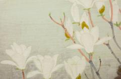 Japanese Two Panel Screen Magnolia Tree in Bloom - 1320017