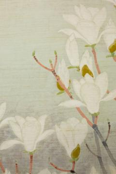 Japanese Two Panel Screen Magnolia Tree in Bloom - 1320018