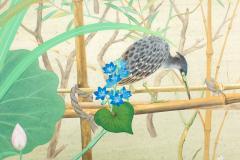 Japanese Two Panel Screen Marsh Flowers - 1421625