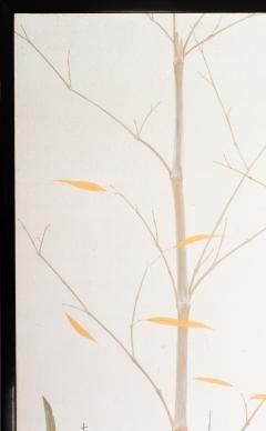 Japanese Two Panel Screen Marsh Flowers - 1421628