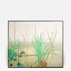 Japanese Two Panel Screen Marsh Flowers - 1422087