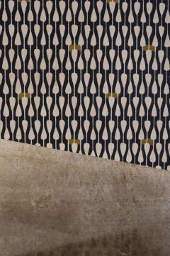 Japanese Two Panel Screen Modern Abstract Furosaki Screen Tea Screen  - 1552153