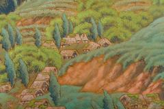 Japanese Two Panel Screen Mountain Seaside Village - 1511600