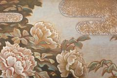 Japanese Two Panel Screen Peonies In the Mist - 1428214