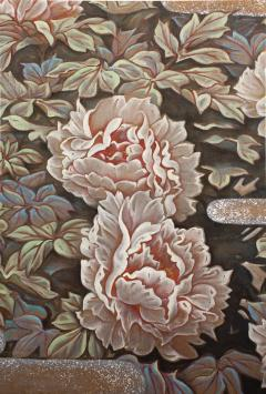 Japanese Two Panel Screen Peonies In the Mist - 1428245