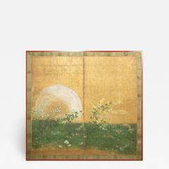Japanese Two Panel Screen Plains of Musashino with Full Moon Rising - 1492802