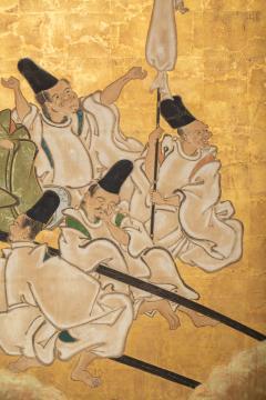 Japanese Two Panel Screen Shoguns Journey to Edo - 756985