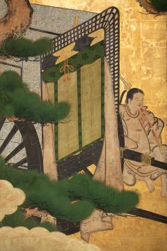 Japanese Two Panel Screen Shoguns Journey to Edo - 756986