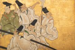 Japanese Two Panel Screen Shoguns Journey to Edo - 756987