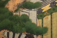 Japanese Two Panel Screen Shoguns Journey to Edo - 756988
