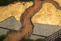 Japanese Two Panel Screen Shoguns Journey to Edo - 756992