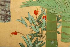 Japanese Two Panel Screen Swallows in Tropical Landscape - 714869