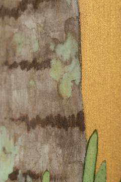 Japanese Two Panel Screen Swallows in Tropical Landscape - 714875