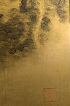 Japanese Two Panel Screen Temples Through Misty Forest - 1981516