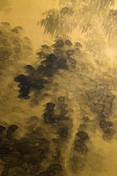Japanese Two Panel Screen Temples Through Misty Forest - 1981521
