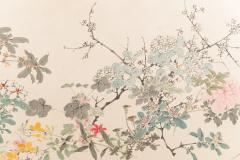 Japanese Two Panel Screen Wild Flowers - 1950323