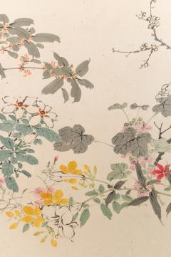 Japanese Two Panel Screen Wild Flowers - 1950324