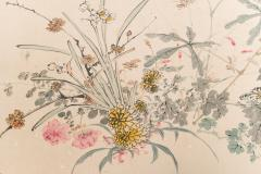 Japanese Two Panel Screen Wild Flowers - 1950334