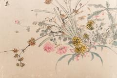 Japanese Two Panel Screen Wild Flowers - 1950343
