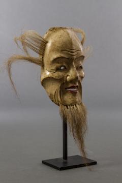 Japanese Wood Noh Mask of Jo - 1564242