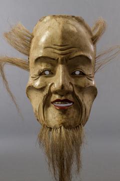 Japanese Wood Noh Mask of Jo - 1564244