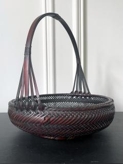 Japanese Woven Bamboo Ikebana Basket Morikago - 2002643