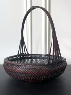 Japanese Woven Bamboo Ikebana Basket Morikago - 2002644