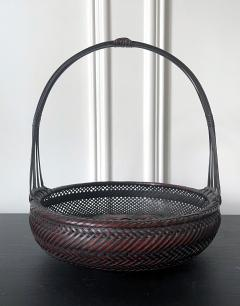 Japanese Woven Bamboo Ikebana Basket Morikago - 2002645
