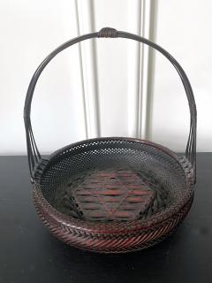 Japanese Woven Bamboo Ikebana Basket Morikago - 2002647