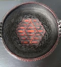 Japanese Woven Bamboo Ikebana Basket Morikago - 2002649