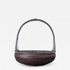Japanese Woven Bamboo Ikebana Basket Morikago - 2003488