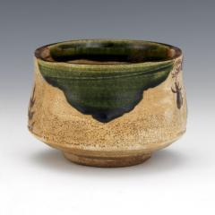 Japanese ceramic Oribe tea bowl chawan - 1381220