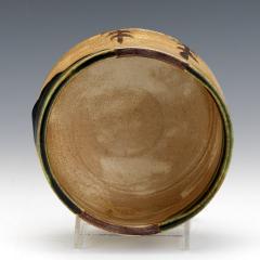 Japanese ceramic Oribe tea bowl chawan - 1381222