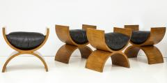 Jay Spectre Curule Benches by Jay Spectre Set of 4  - 759826