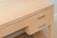 Jay Spectre Rare American Modern Cerused Oak Desk - 106483