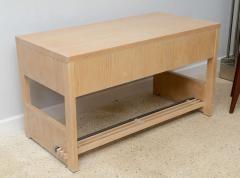 Jay Spectre Rare American Modern Cerused Oak Desk - 106485