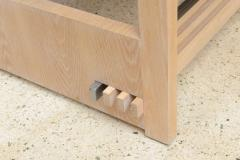Jay Spectre Rare American Modern Cerused Oak Desk - 106486