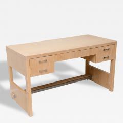 Jay Spectre Rare American Modern Cerused Oak Desk - 110315