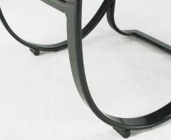 Jay Spectre Set of Six Jay Spectre for Brown Jordan Midnight Blue Metal Dining Chairs - 274287